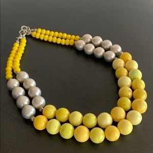 Vintage inspired handcrafted necklace real beads